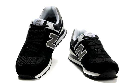 New Balance 新百伦 574 系列 时尚 旅游 运动  跑步鞋 男士潮流鞋 新成NB:02黑白