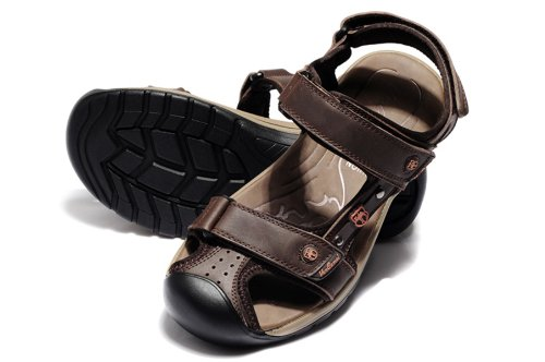 Van-camel 西域骆驼 夏季男式真皮凉鞋 时尚户外休闲鞋溯溪鞋 包头沙滩鞋拖鞋 透气休闲鞋