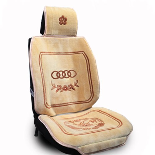 优途 汽车坐垫 纯羊毛座垫 车用仿手编织地毯四季通用坐垫羊剪绒 尼桑