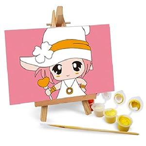 自油自画 数字油画 diy手绘画 儿童卡通动漫迷你画 大