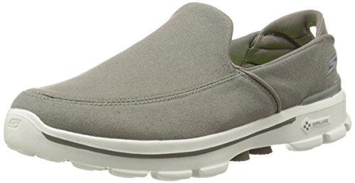 Skechers Performance Men's Go Walk 3 Attain Slip-On Walking Shoe, Khaki, 10 M US