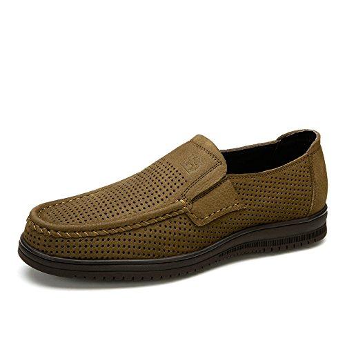 Camel 骆驼 男鞋 英伦时尚套脚懒人鞋日常休闲皮鞋 2015夏季新款