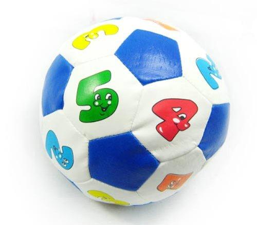 儿童智力玩具  认数字带摇铃声小皮球 宝宝手抓球  颜色随机-图片