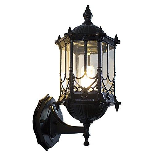 七源阳台防水欧式户外复古庭院灯室外花园现代别墅美式地中海壁灯(小