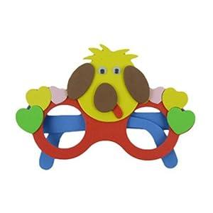 尼尔卡 精品 眼镜个性装饰手工diy制作卡通拼贴眼镜制作生日礼物小狗