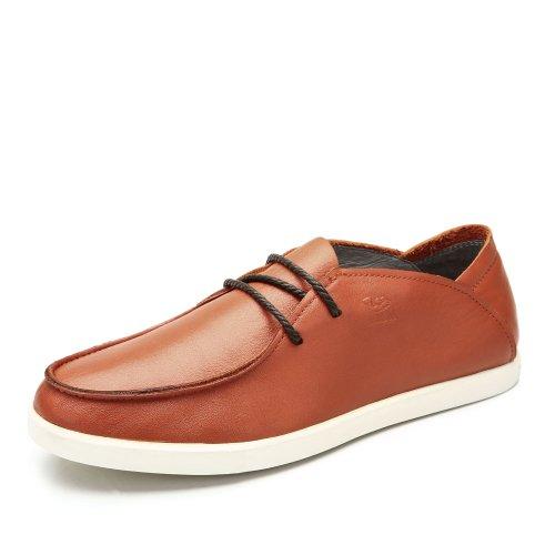 Camel 骆驼 男鞋 夏季新款低帮鞋系带时尚休闲舒适皮鞋软面牛皮男鞋A422134010