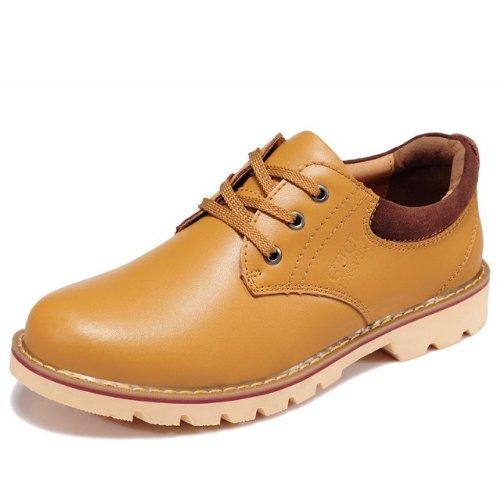 Guciheaven 韩版英伦风时尚 潮流低帮鞋 男士商务休闲皮鞋 户外工装鞋 大头皮鞋 工作鞋 男鞋子