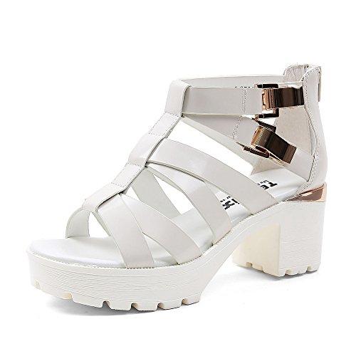 Teenmix 天美意 天美意夏季专柜同款牛皮女凉鞋专柜 6ZG30BB5