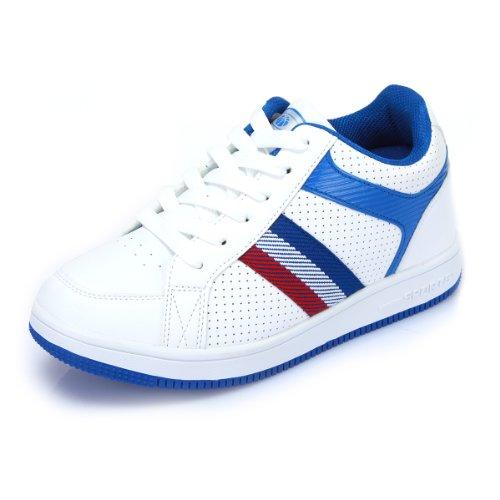 GOG 高哥秋季新款条纹系带男鞋休闲鞋板鞋 男式增高6.5cm 高哥增高鞋 男 D1390