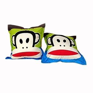 卡通可爱维尼熊 米奇 鸭子 史迪仔方型抱枕靠垫暖手捂