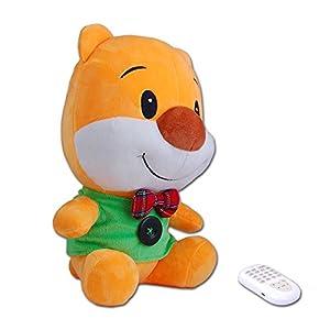 bb熊早教故事机以可爱的卡通毛绒小熊为外形