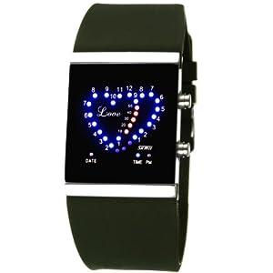 skmei 时刻美 led手表男士女士心心相印手表时尚电子表果冻高清图片