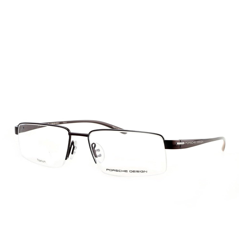 porsche design 专柜 porsche保时捷眼镜框 男纯钛半框近视眼镜架8160图片
