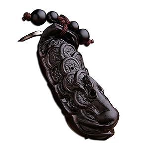 多吉米 汽车挂饰钥匙扣 鼠钱 乌木雕刻 钥匙链