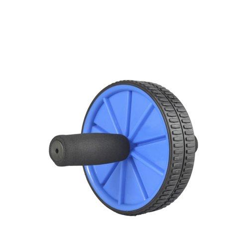 JUFIT 居康 全新升级版 双轮健腹器 瘦身美腰轮腹肌轮健身轮  健腹轮 颜色随机(蓝、黄、黑)-图片