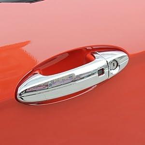 福特新嘉年华拉手改装专用 翼博电镀外拉手贴 翼搏门外拉高清图片