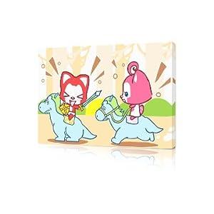 佳彩天颜 数字油画diy 卡通儿童手绘情侣益智装饰画 木马阿狸骑士