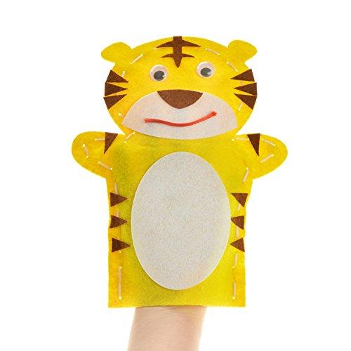 孩派 手工制作diy动物贴画创意针线缝制玩偶 布艺手偶 不织布手偶 (11