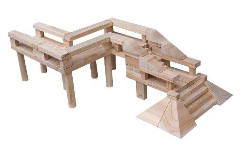 lito 立特 古建筑积木系列 栈桥组合(安全环保香杉木无漆,自己动手盖