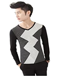 enshang 2014新款春装长袖t恤 韩版男士t恤衫 814a505