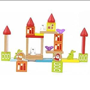 classic world 可来赛 木头积木一岁亲子互动益智桌面