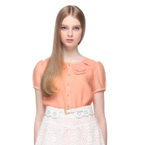 Five Plus 女式 花瓣领泡泡短袖衬衫 213101175014