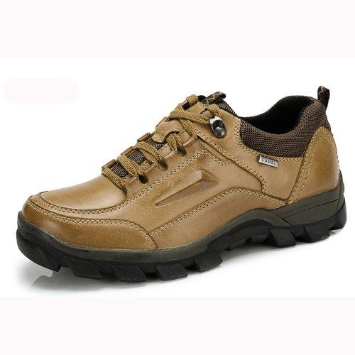 Camel 骆驼 男鞋 真皮疯马皮 户外运动休闲男鞋 新款 82307601