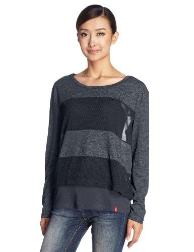 Esprit旗下edc 女式 时尚拼接百搭款长袖T恤 LE0719F