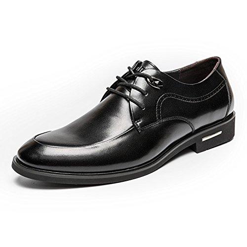 MULINSEN 木林森 男款系带商务皮鞋办公室正装鞋结婚鞋头层牛皮皮鞋