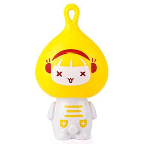 沐阳2387c黄色洋葱头卡通迷你风扇便携小风扇可爱迷你