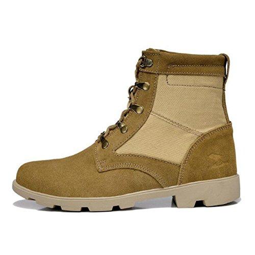 z.suo 英伦风范潮流男靴 美军陆战队军靴战地靴 骑士靴 军靴工装靴 真皮反绒皮马丁靴沙漠靴