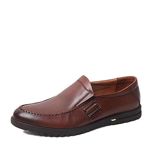 Senda 森达 森达春季专柜同款打蜡牛皮休闲男单鞋专柜 1ED05AM5