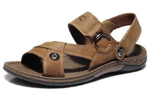 Camel Active 骆驼动感 夏季新款男鞋 男士正品休闲凉鞋 时尚露趾搭扣沙滩鞋 头层牛皮凉拖两用鞋