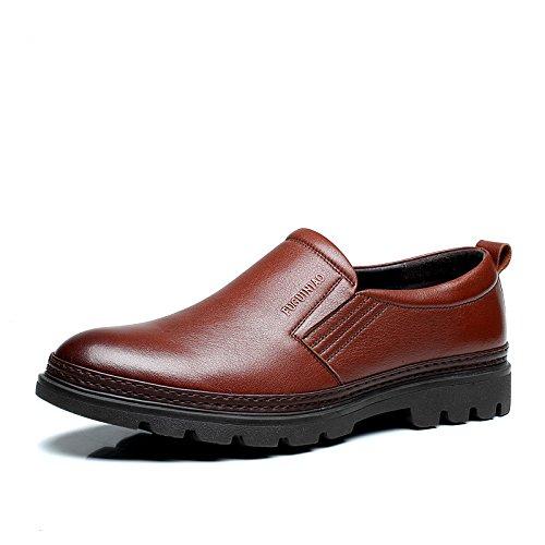 Fuguiniao 富贵鸟 商务正装休闲皮鞋 英伦风 大头皮鞋 男士皮鞋 懒人套脚鞋 潮鞋 皇A402983