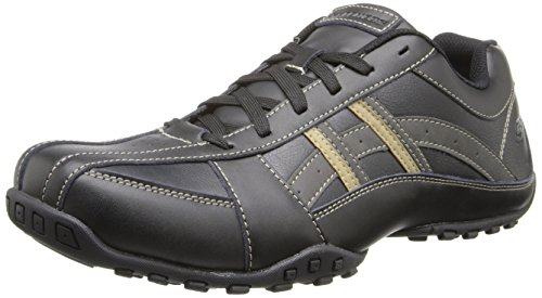Skechers USA Men's Relaxed Fit Expected Robino, Black, 10.5 M US
