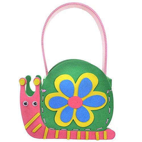 diy手工材料幼儿 k1-10包包 手工包 (动物包包-蜗牛)