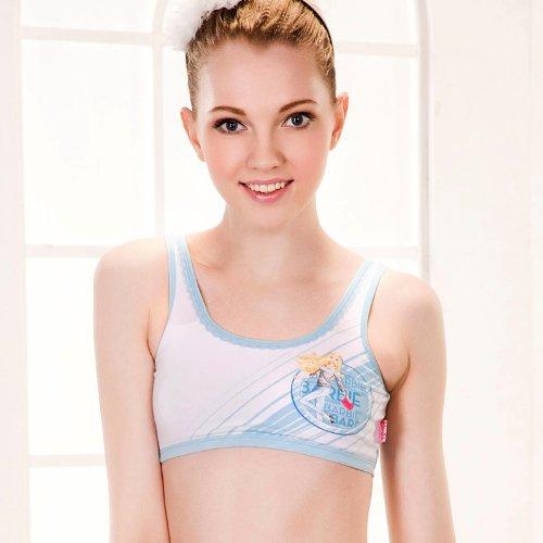 barbie 芭比新款芭比发育期少女内衣 学生青春期内衣 女童纯棉背心式