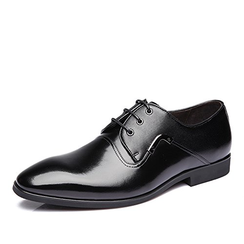 Crocodile 鳄鱼恤 秋季 男士商务正装皮鞋 尖头系带英伦真皮头层皮鞋