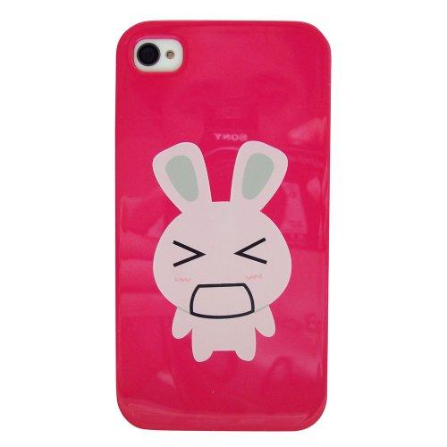 yuge 新品上市 韩国表情可爱兔子 iphone4 4s 手机壳