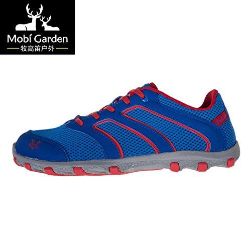 Mobi Garden 牧高笛 户外春季徒步男鞋露营野营运动跑鞋旅行赤足多功能透气鞋