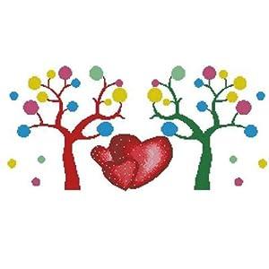 dmc 多美绣 大幅客厅卧室欧式风景油画抽象爱情树 法国 十字绣 11ct