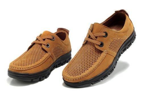 Guciheaven 英伦风时尚型男最爱 夏季透气鞋 休闲鞋 商务流行皮鞋 个性真皮男鞋