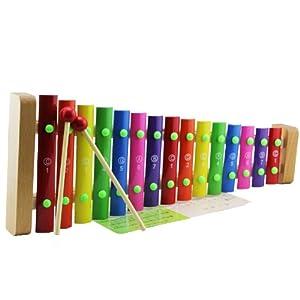 凯烨玩具 15音手敲木琴 儿童音乐玩具 铝片琴 打击乐器 带琴谱图片