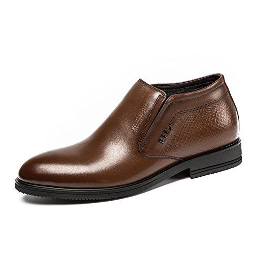 MULINSEN 木林森 男鞋男士保暖棉皮鞋英伦商务高帮鞋潮流真皮短靴