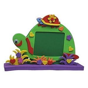 乐乐鱼 海鲸 eva手工制作 立体动物相框 儿童diy创意手工粘贴相框画
