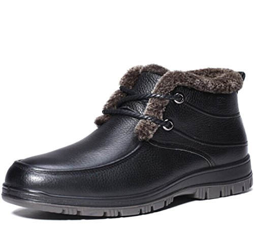Mulinsen 木林森 英伦时尚潮流系带男士保暖加毛绒高帮经典真皮牛皮商务休闲鞋正装鞋皮鞋子 复古男鞋子