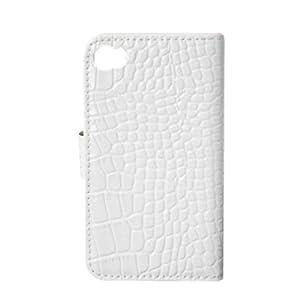 Coomast 酷玛特 iphone 4G 4S 4s 真皮皮套左右开 手机套 鳄鱼纹 保护壳 (白色)