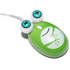 卡通绿色大眼蛙鼠标