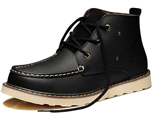 Guciheaven 古奇天伦 英伦男士系带复古加毛保暖高帮休闲工装靴马丁靴皮靴短靴子潮鞋男鞋
