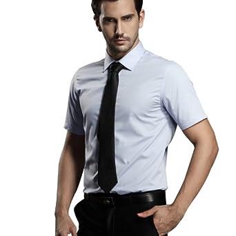 商务男士短袖衬衫 韩版正装男装休闲短袖修身白衬衣